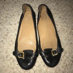 Chloé Black Flats